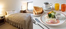 客室・朝食